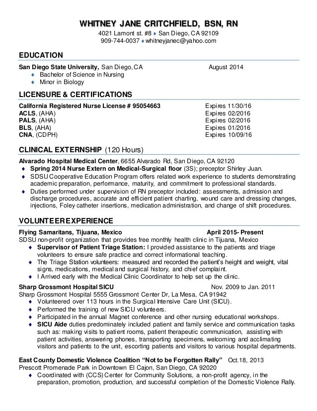New Grad Rn Resume Examples Nursing Resume Samples New Grad  New Rn Grad Resume