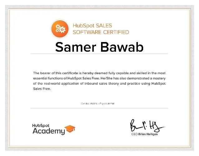 Hubspot Sales Crm Certification
