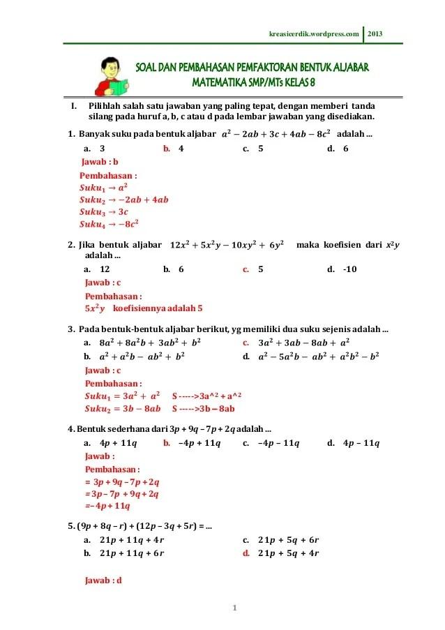 Contoh Soal Psikotes Sma Untuk Penjurusan Kumpulan Materi Pelajaran Dan Contoh Soal 5
