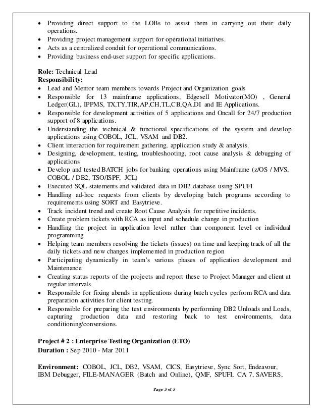 3 mainframe resume sample us career vision for resume tips for