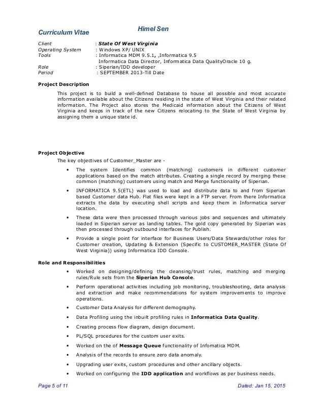Mdm Developer Resume April 2021