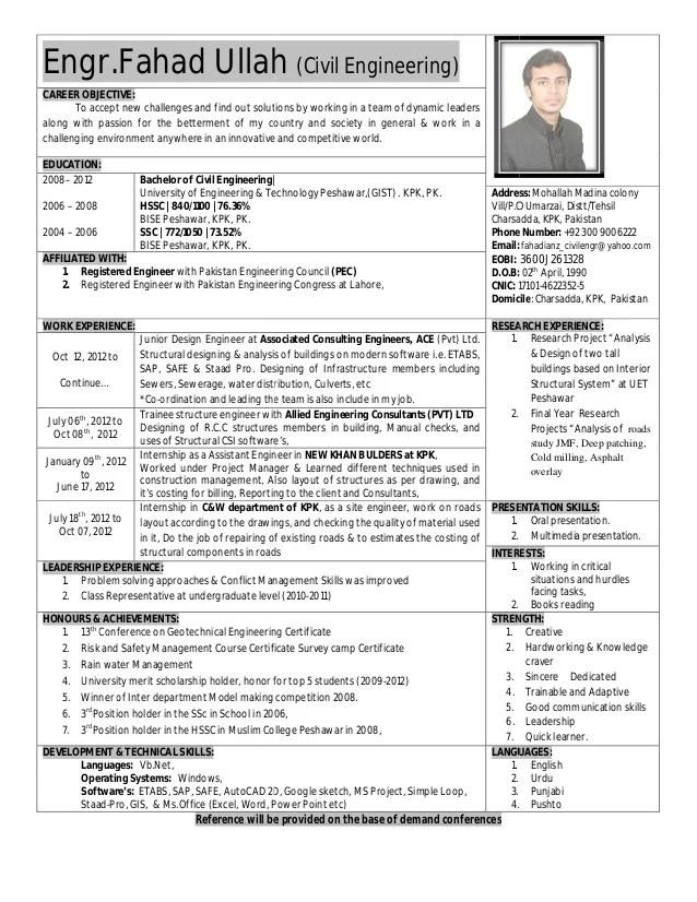 fahad ullah resume