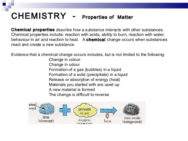 Substance They Changes Used And Physical How And Are Are Chemical What