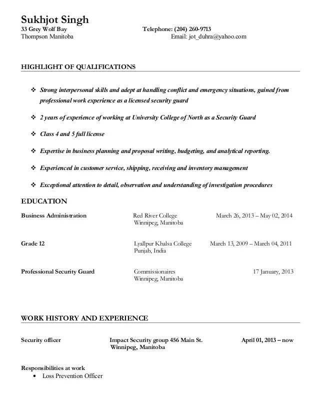 Cover Letter For Security Guard Sample Cover Letter Student How To Write A Cover  Letter For