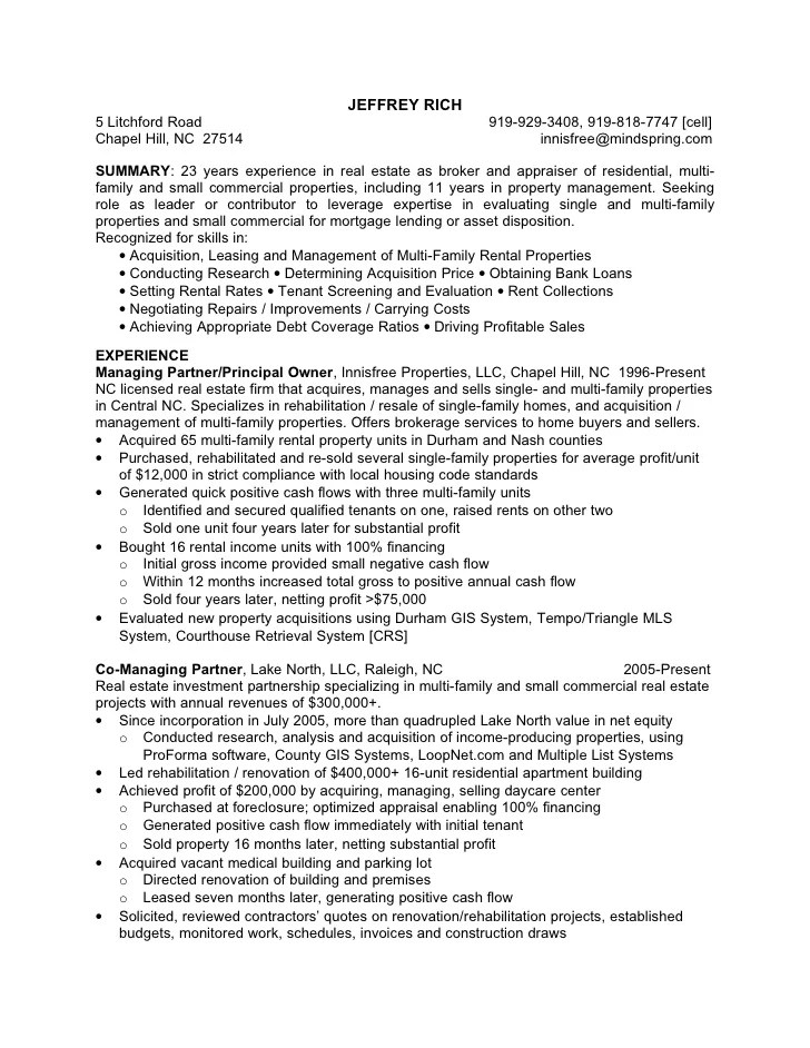 Resident Apartment Manager Resume Sample. apartment manager resume ...