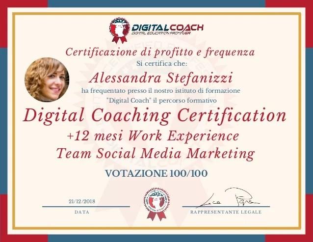 A Stefanizzi Certificazione Di Profitto E Frequenza Digital