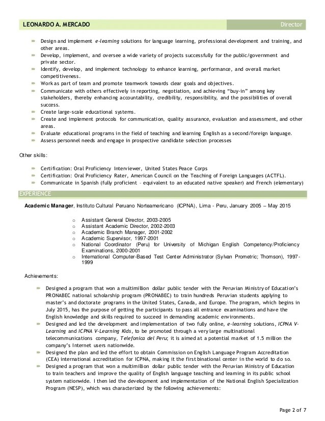 cv resume leonardo mercado linkedin may 2015