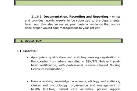 How To Create A Graph » wound care nurse certification for lpn ...