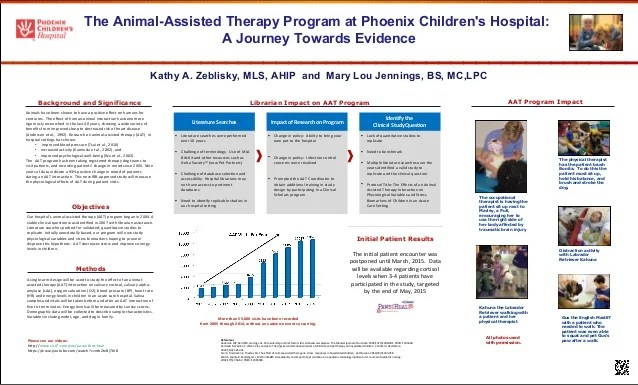 animal assisted therapy program poster