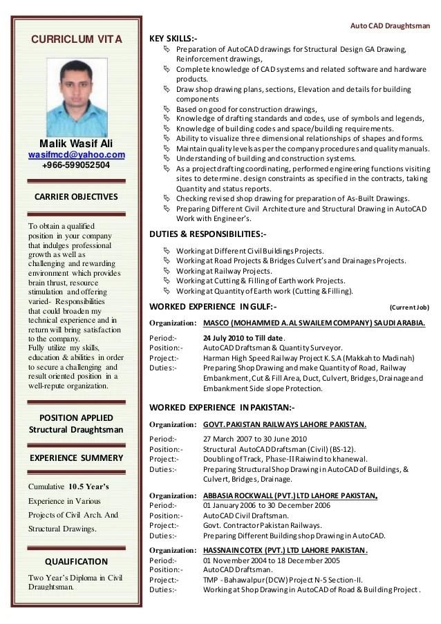 Cv Autocad Draftsman. draftsman electrical draftsman resume ...