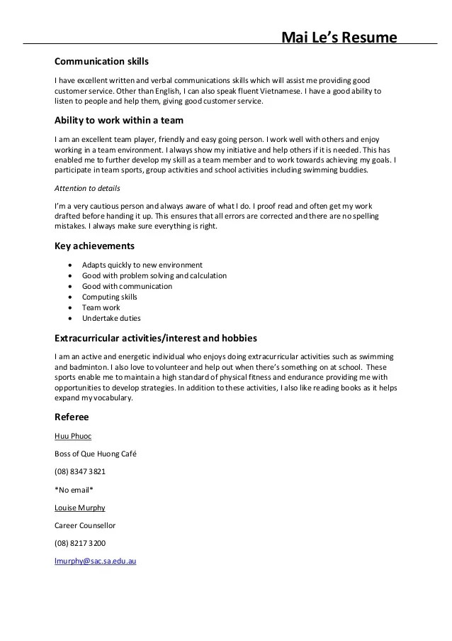 Resume Summary Examples Customer Service Resume Format Download