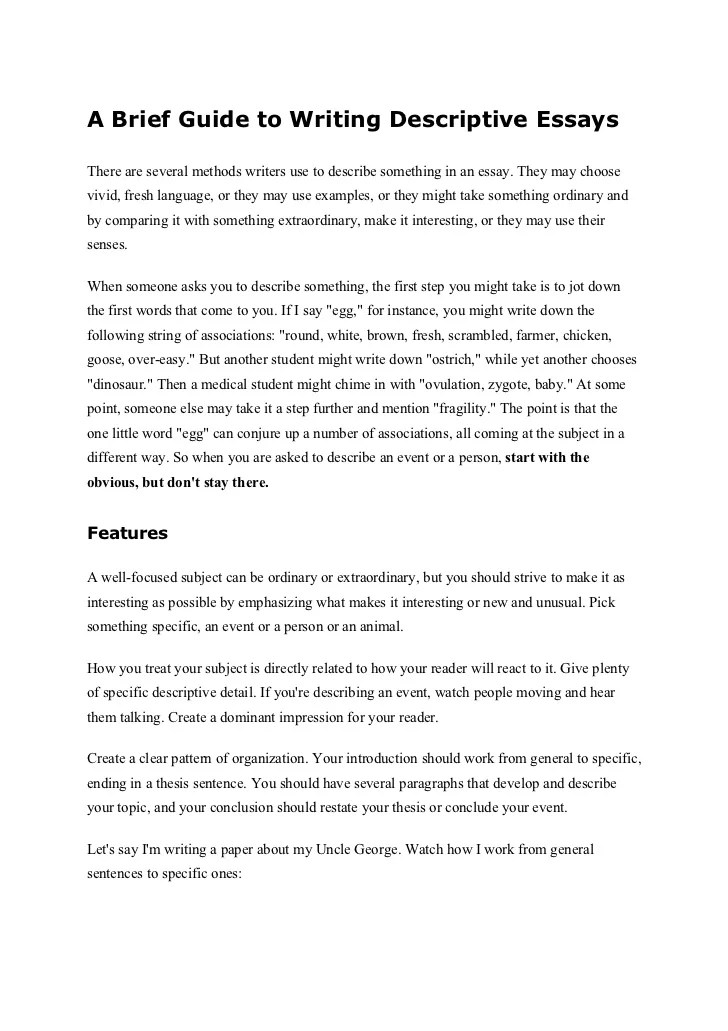 steps inside writing some detailed essay