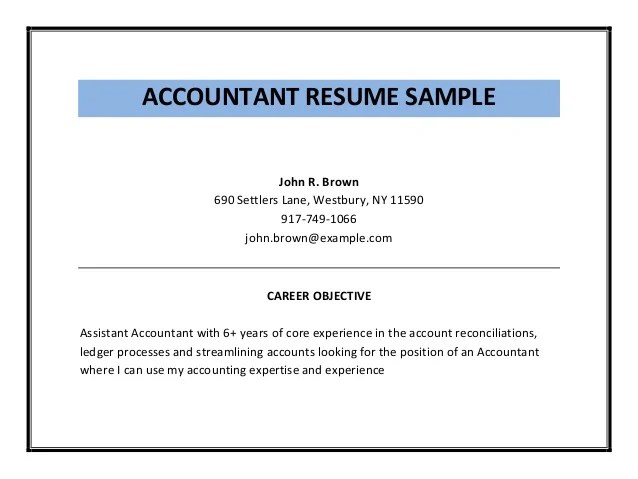 Accountant Resume Objective. resume cover letter part time biology ...