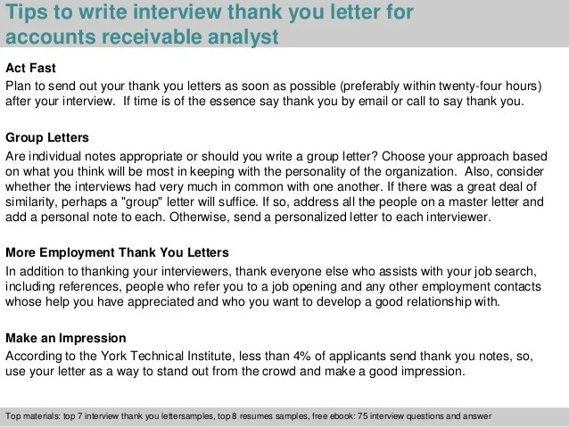 Examples Stand Interview You Out Receivable Letter Thank Accounts
