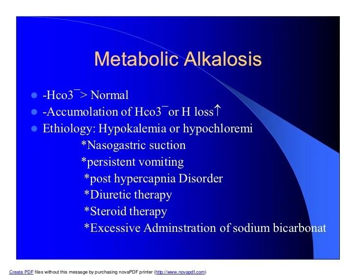 Alkalosis Uncompensated Range Metabolic Hco3