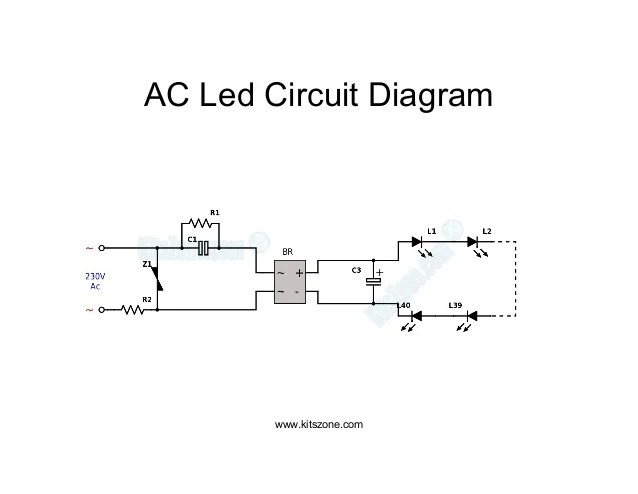 Ac led circuit diagram | led lighting circuits 220v ac230v ac
