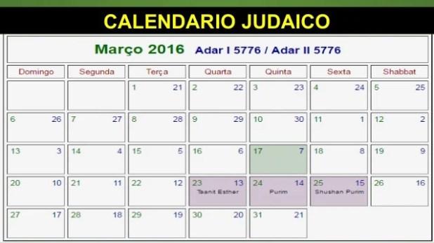 CALENDARIO JUDAICO