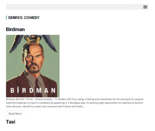 Action Movies Genvideos  Ef  E Megamovie Watch Free Your Movies Search Genres Comedy Birdman Birdman  R