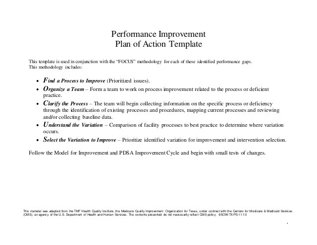 Self Improvement Action Plan