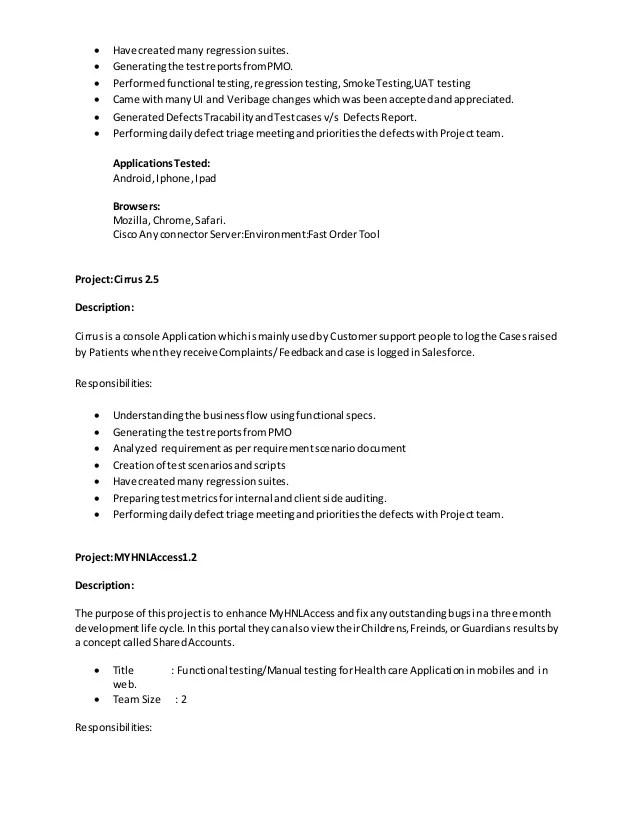 obiee sample resumes