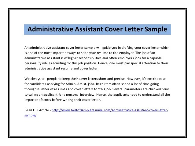 example of cover letter for resumes for administrative assistants ...
