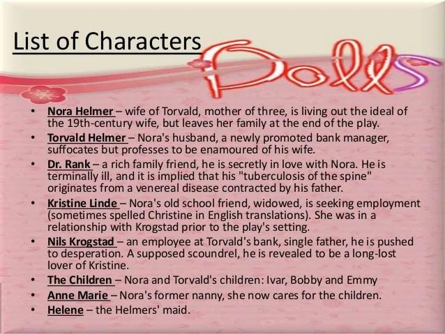 Henrik Doll House Play Summary Ibsen