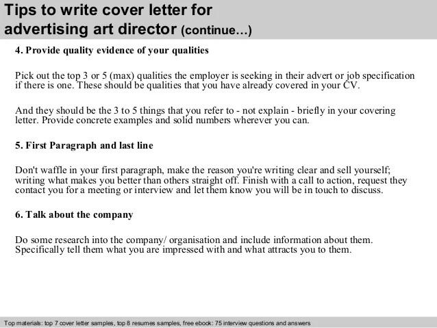 Creative Director Cover Letter For Resume Sample Advertising Art
