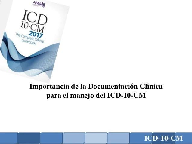 Introducción Codificación de Diagnósticos ICD-10-CM (CIE-10)