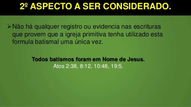 2º ASPECTO A SER CONSIDERADO. Não há qualquer registro ou evidencia nas escrituras que provem que a igreja primitiva tenh...