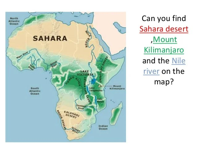 Map Deserts Africa And Their Names