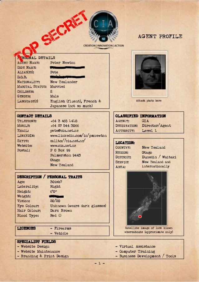 Agent Record Template