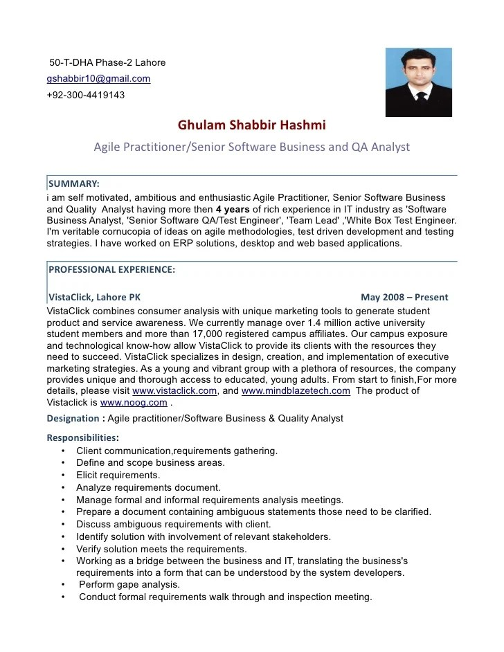 Qa Analyst Resume India. quality assurance resume qa manager ...