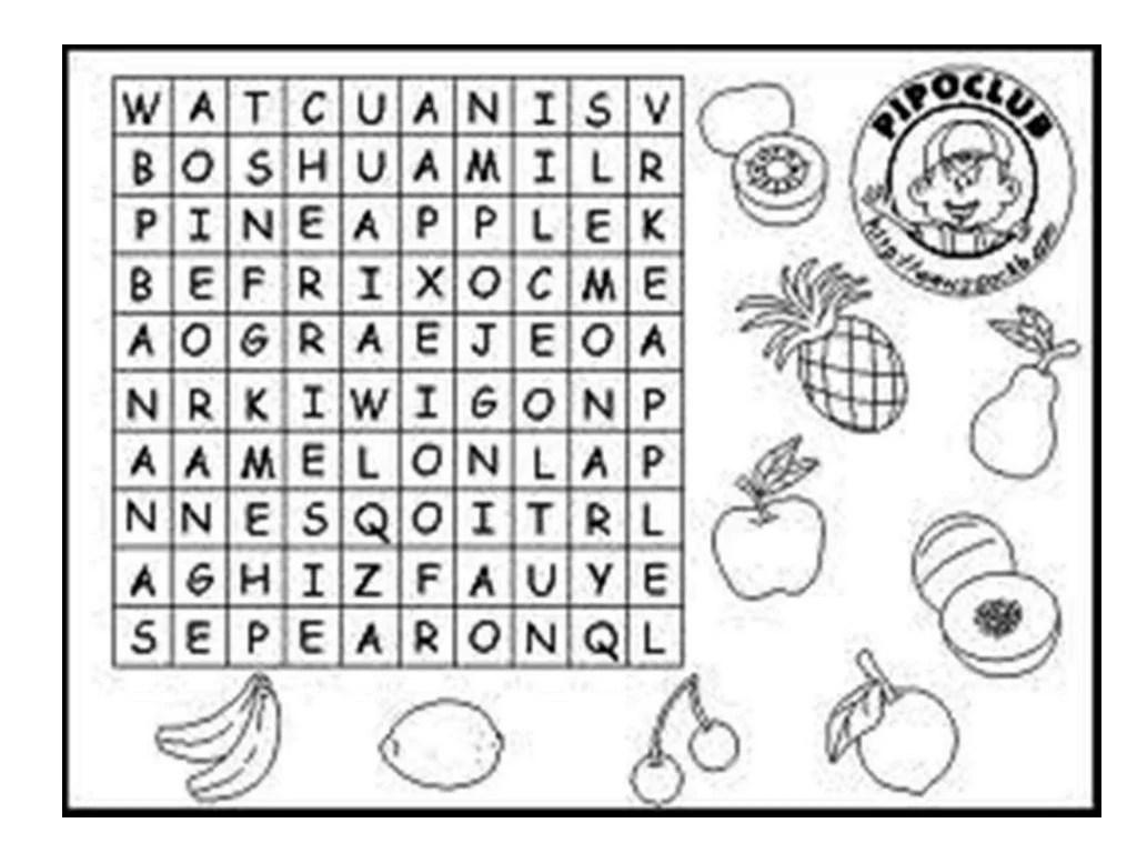 Alfabeto Iconografico Sopa De Letras