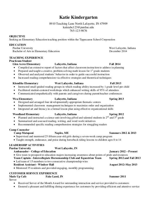 kindergarten resume yangoo org