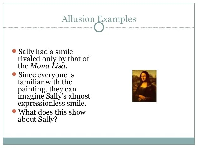 examples of allusion alisen berde