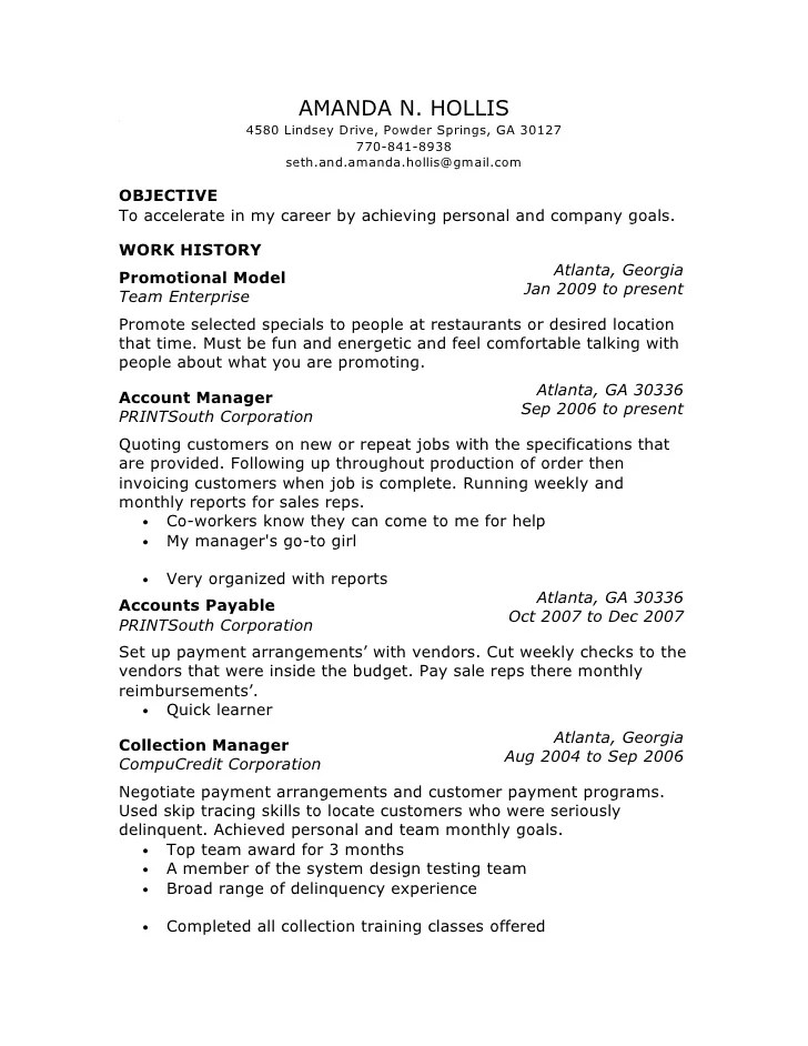 promotional model resume samples model resume example to inspire