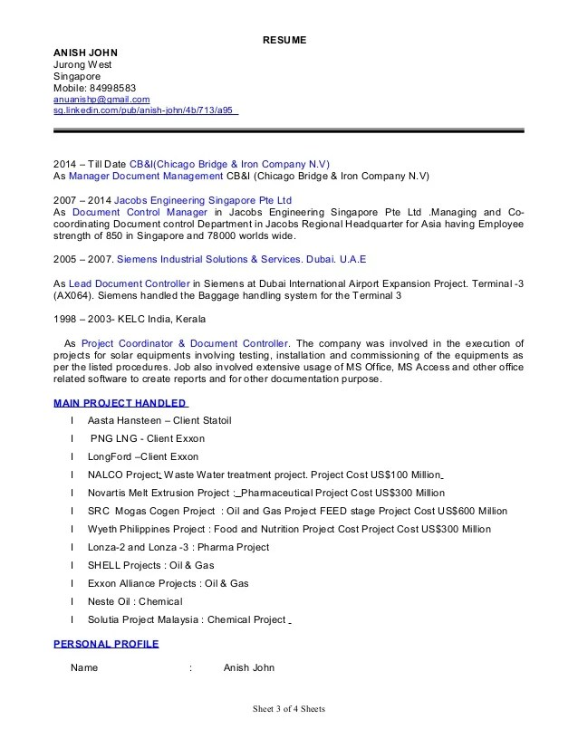 Resume Document Controller. Document Controller Resume Sample
