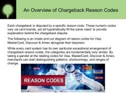 visa and mastercard reason codes