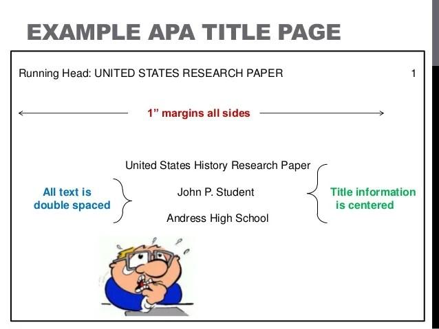 research report apa format