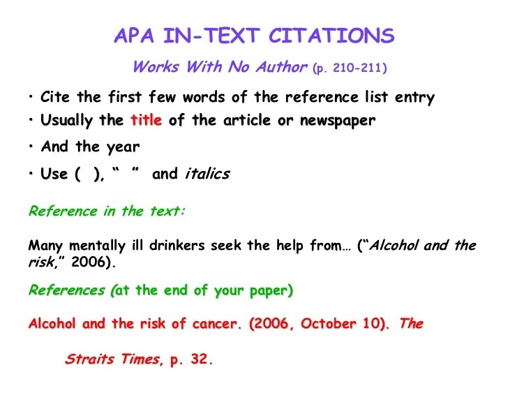 how to cite a guide in apa