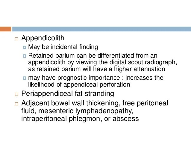 Appendix Appendicitis Normal Ct