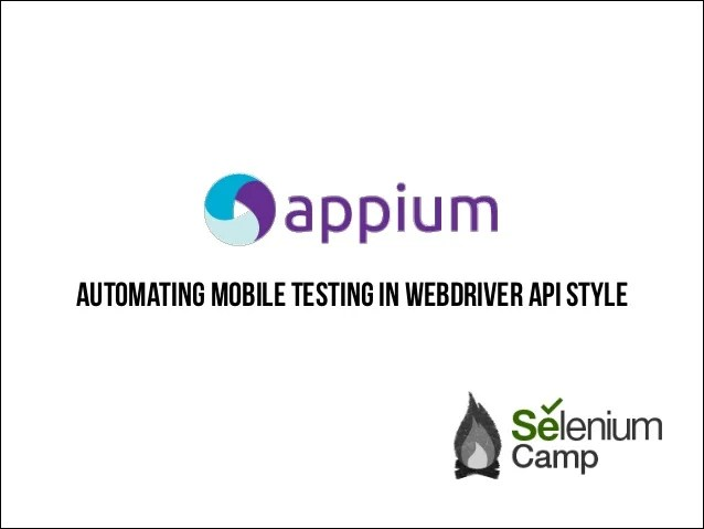 appium mobile test automation like webdriver