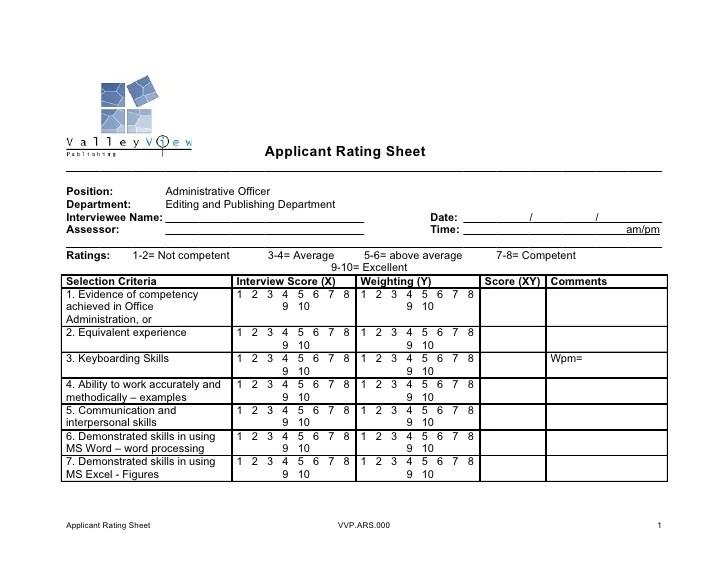 Resume Evaluation Sheet Resume For A Student Resume Sample Best – Sample Interview Score Sheet