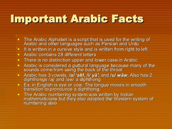 How Many Letters Arabic Alphabet