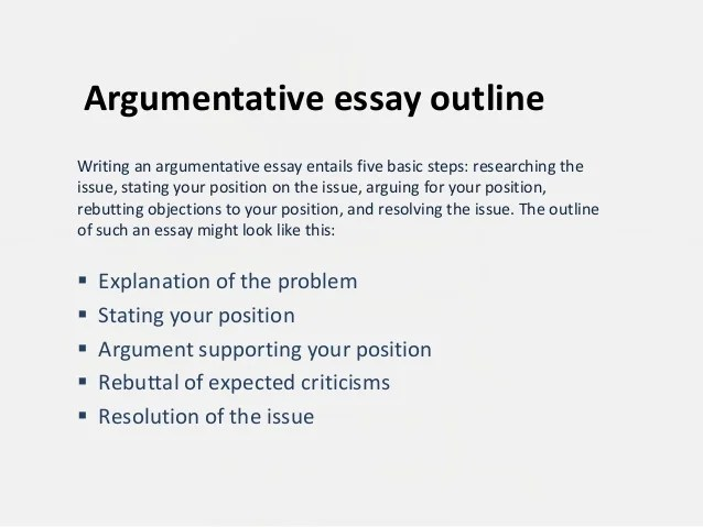 arguing a position essay topics