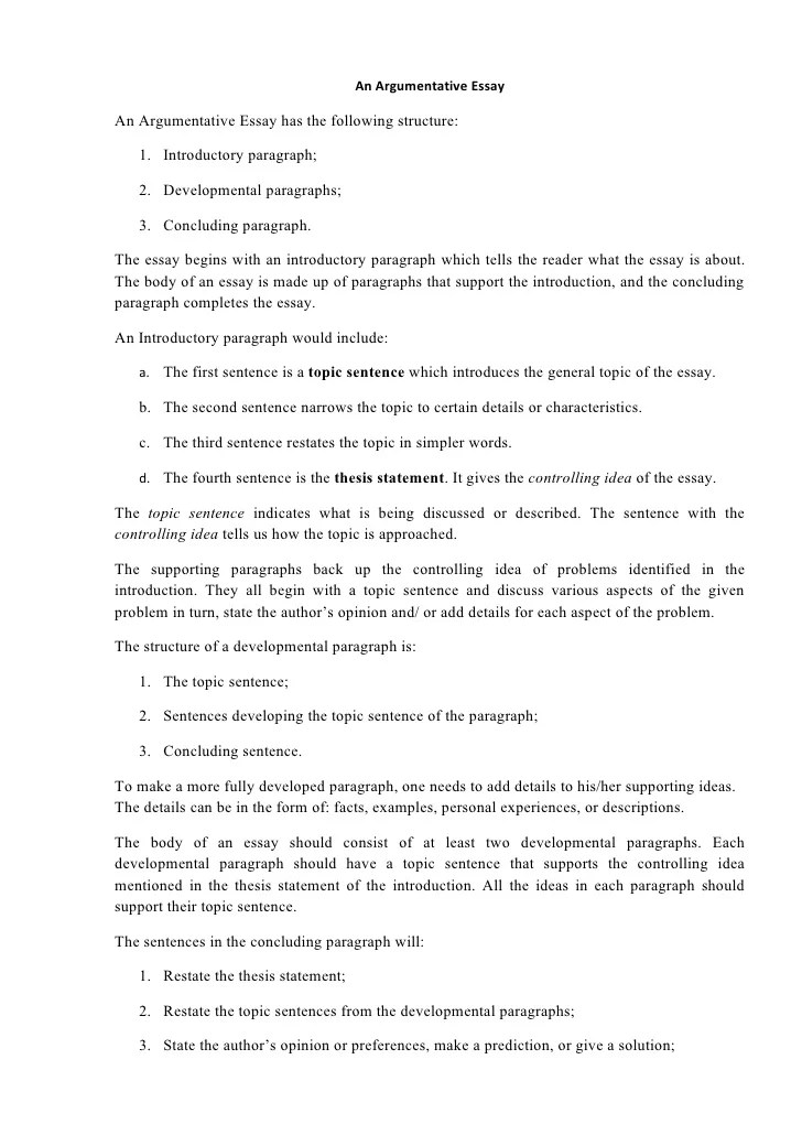 Example Of Good Argumentative Essay | Good Argumentative Essay Introduction Examples Poemdoc Or