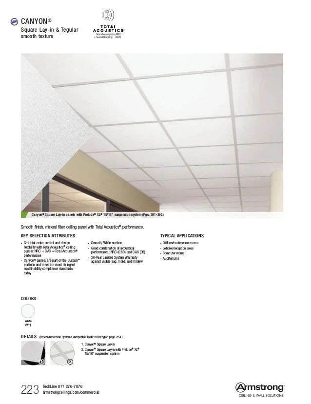 09 armstrong ceilings mineral fiber
