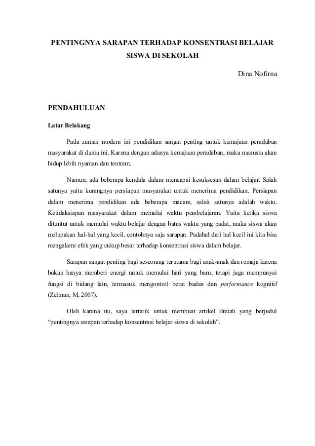 Contoh Artikel Non Ilmiah Pendidikan Contoh Surat