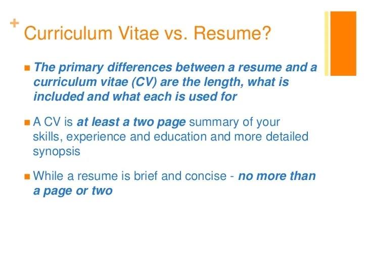 curriculum vitae vs resumes infografika