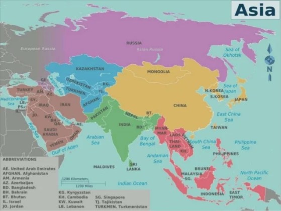 Asian countries slideshare Asian countries  2